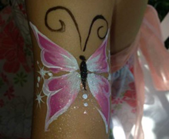 Butterfly Body Art