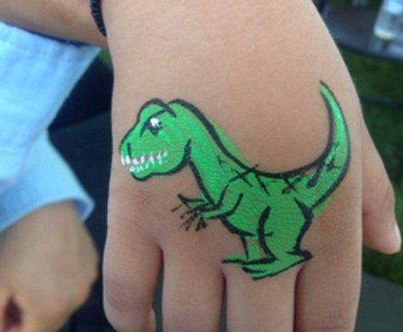 T-Rex Body Art