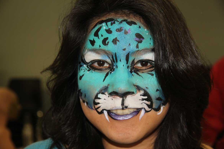 Face Painted Leopard Large