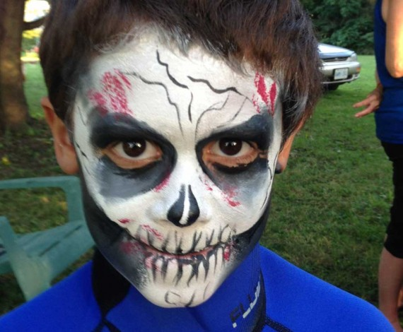 Skull halloween themed face paint