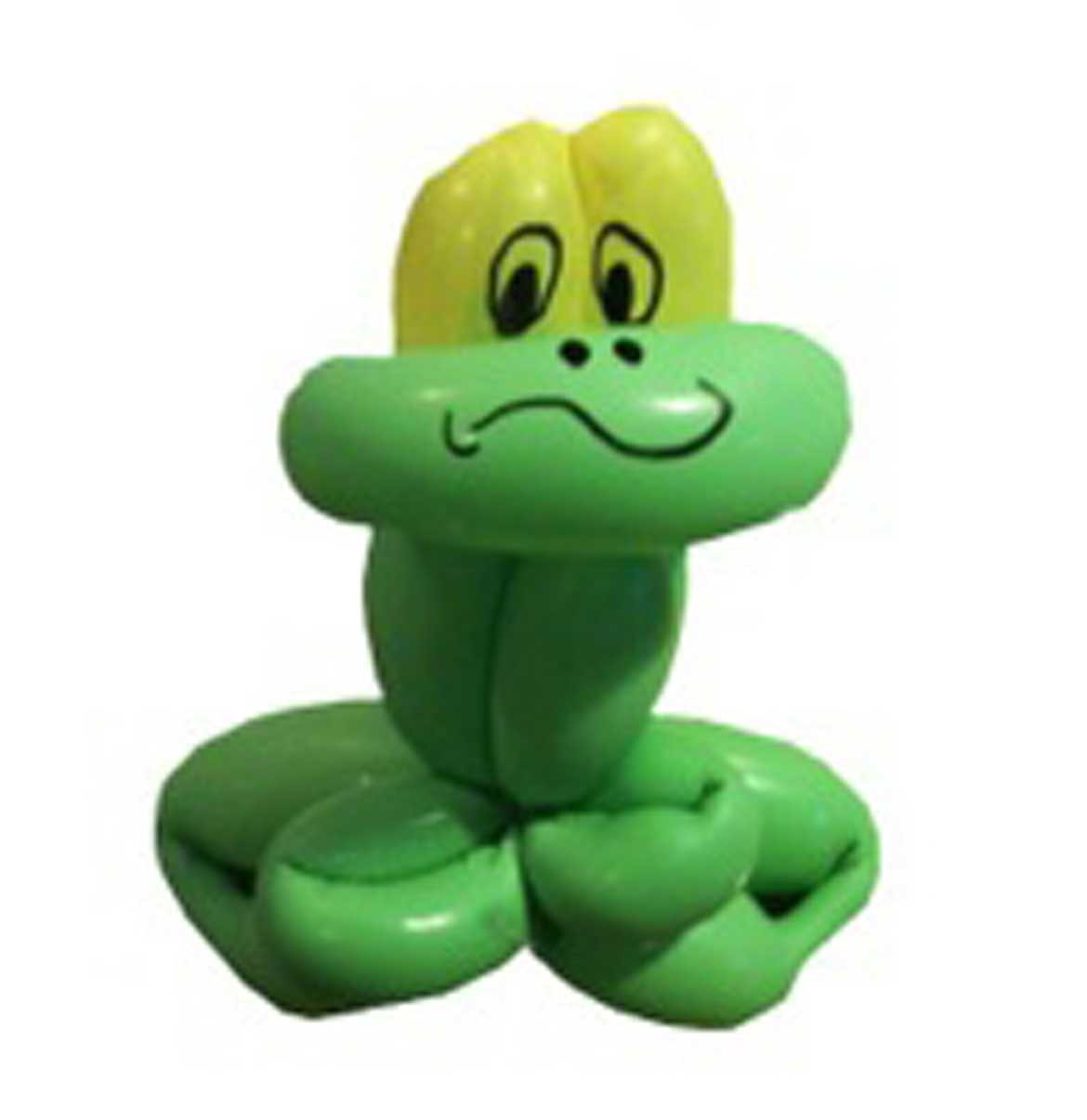 Frog made out of two balloons