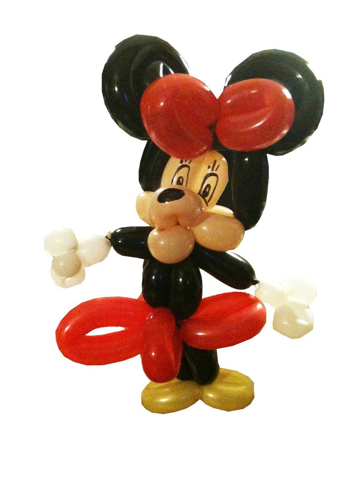 Mickey Mouse made out of 7 balloons