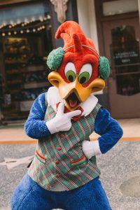 Woody the Woodpecker mascot