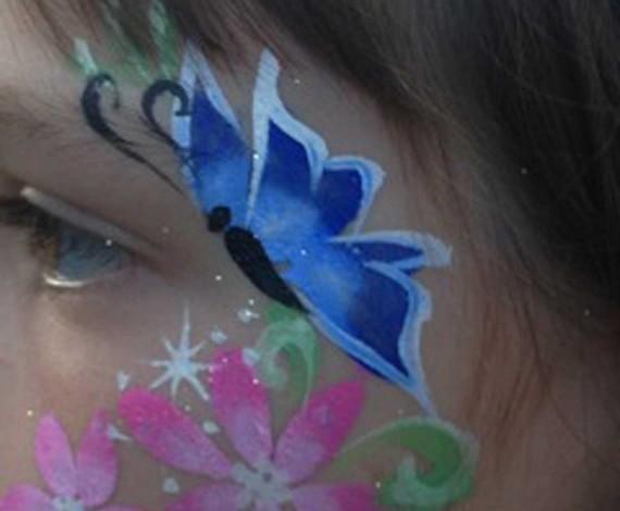 Butterfly Cheek Art