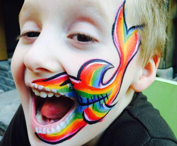 Rainbow Shark Face